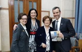 Με την Πρόεδρο του Συνδέσμου Βιολέτα Παπαθανασίου