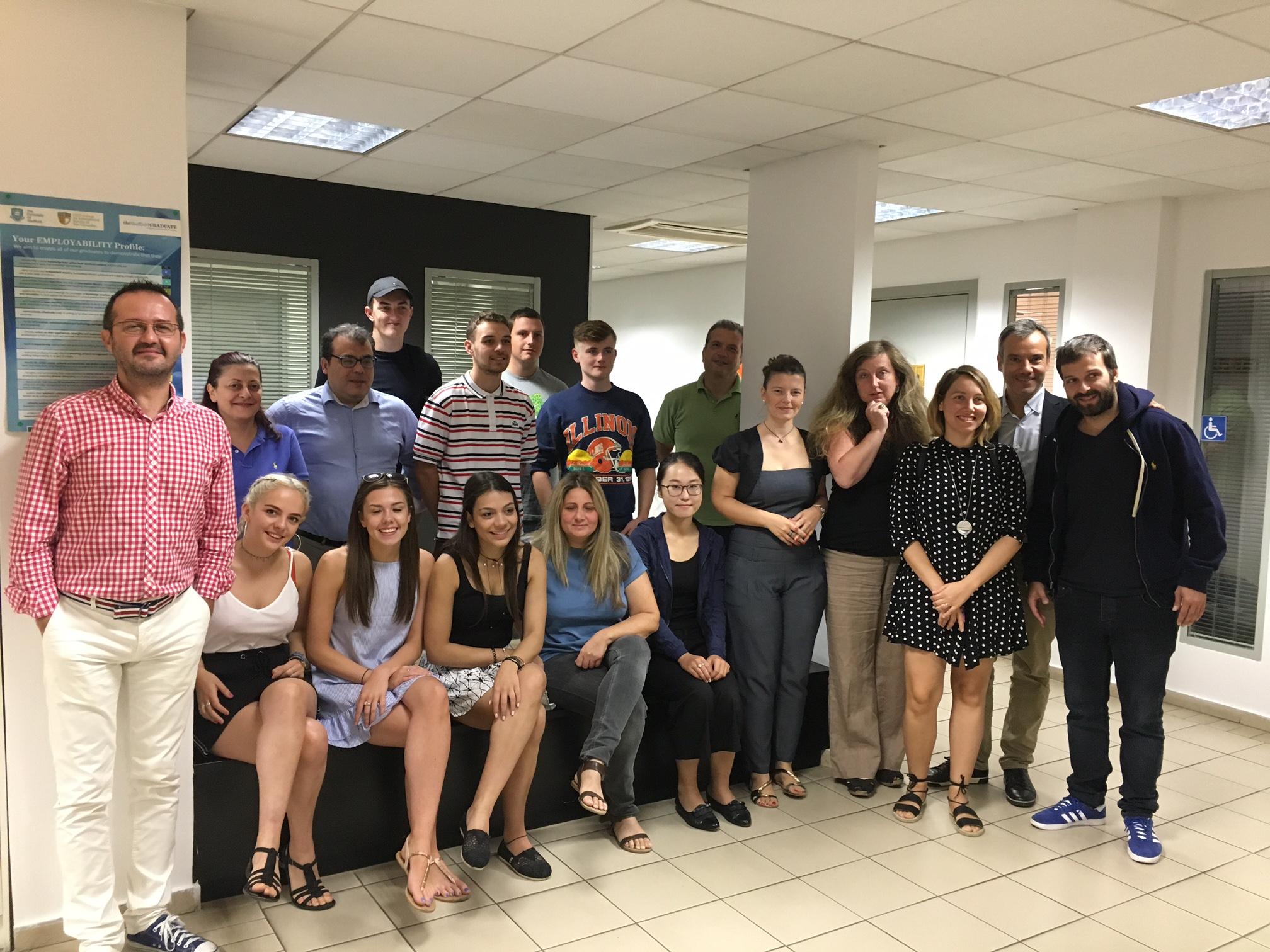 Ομιλία για την τοπική διακυβέρνηση σε επισκέπτεςφοιτητές του Πανεπιστημίου τουSheffield